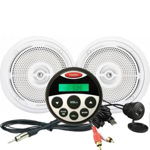 Waterproof MP3 / FM / AM Guage Size Stereo Kit 2