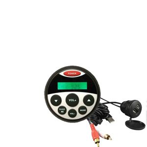 Gauge size Marine USB/MP3 Player with Bluetooth Kit