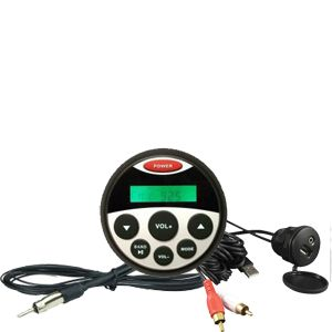 Gauge size Marine USB/MP3 Player with Bluetooth Kit 1